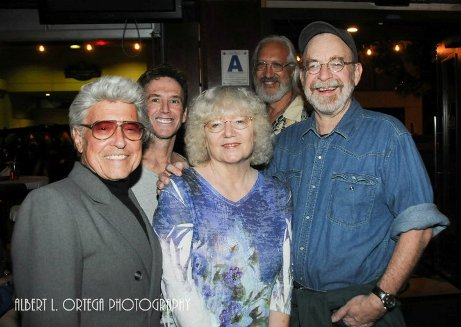 From left, Jim Steranko, Bill Sienkiewivz, Jackie Estrada, Steve Leialoha, and Walt Simonson.