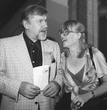 Jackie hanging with Alex Toth at the El Cortez in 1979.