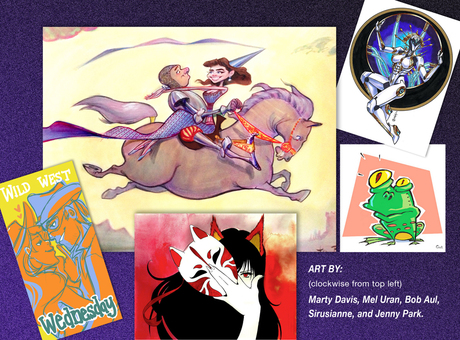 Banner for San Diego Comic Fest 2017 Artist Alley Page