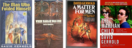 Covers of science fiction books by San Diego Comic Fest guest David Gerrold