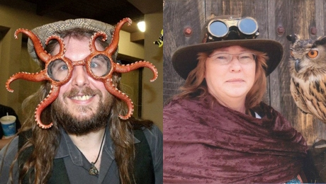 San Diego Comic Fest Steampunk guests Hal and Dee Astell