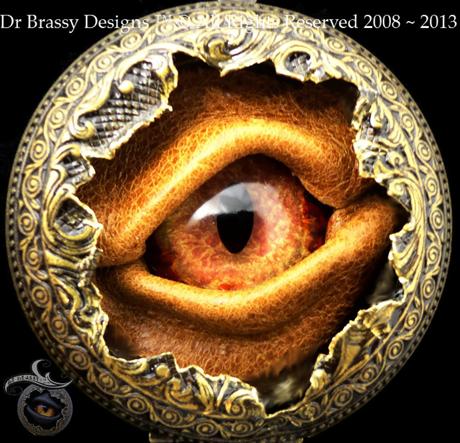steampunk eye piece by San Diego Comic Fest guest Dr. Brassy Steamington