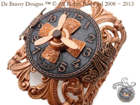 steampunk ring created by San Diego Comic Fest guest Dr. Brassy Steamington