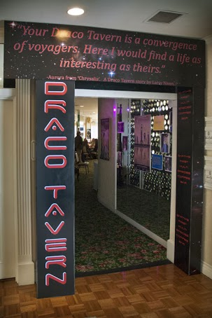 Entrance to Draco Tavern, Earth's only multi-species coffee bar, created exclusively for San Diego Comic Fest 2013.