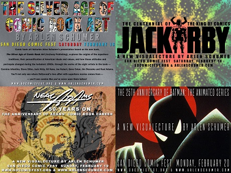 Four talks by San Diego Comic Fest Guest Arlen Schumer