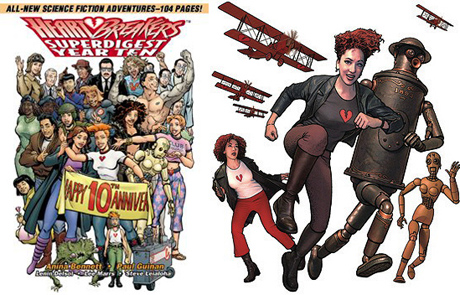 Heartbreakers comics by San Diego Comic Fest guests Anina Bennett and Paul Guinan