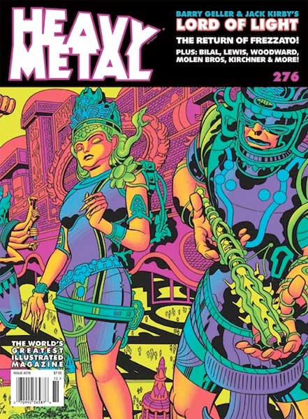 Cover of Heavy Metal magazine 276 featuring article by San Diego Comic Fest guest Barry Ira Geller