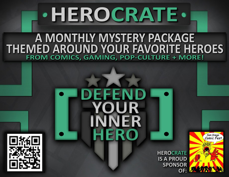 San Diego Comic Fest Sponsor HeroCrate Raffle