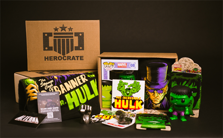 Contents of HeroCrate for San Diego Comic Fest offer