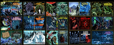 Lovecraft covers by San Diego Comic Fest guest Pete Von Sholly