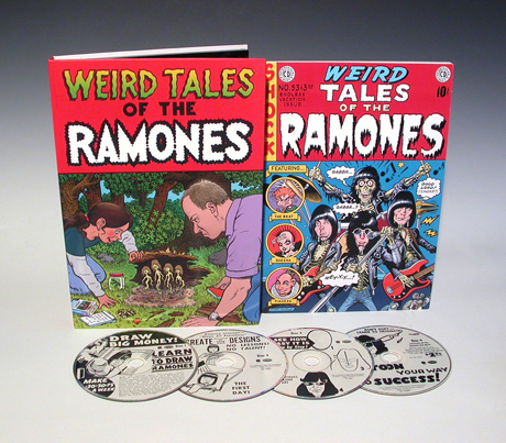 Weird Tales of the Ramones box set from Rhino Records and art directed by San Diego Comic Fest guest Hugh Brown.