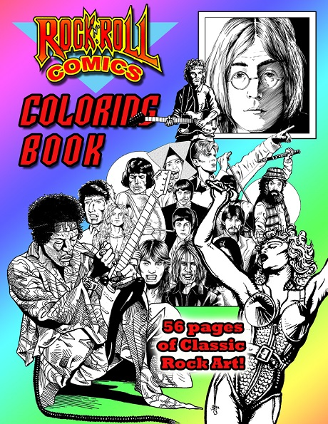 Rock 'N' Roll Comics Coloring Book cover to be featured at San Diego Comic Fest