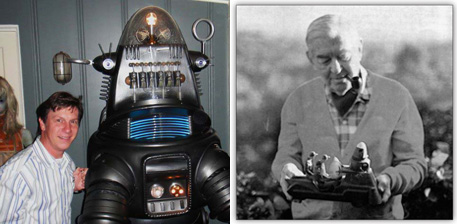 San Diego Comic Fest Guest Robert Welch, Robby the Robot from FORBIDDEN PLANET, and A. Arnold Gillespie, the Wizard of MGM