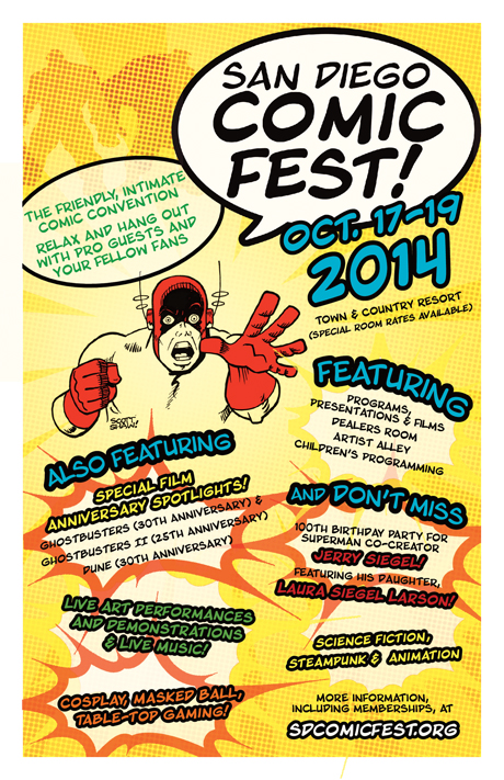 San Diego Comic Fest flyer for Comic-Con