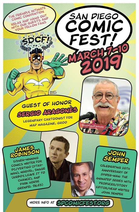 San Diego Comic Fest 2018 flyer