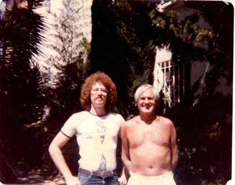 Pete Von Sholly with Timothy Leary in 1978.