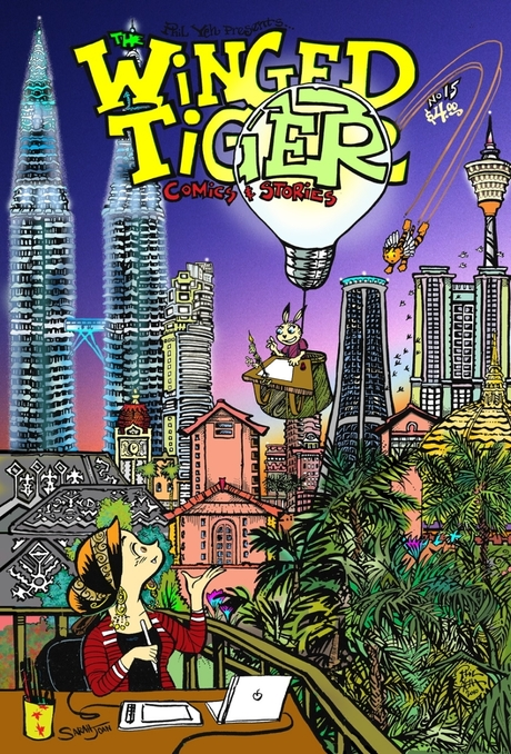 San Diego Comic Fest guest Phil Yeh's Winged Tiger comics