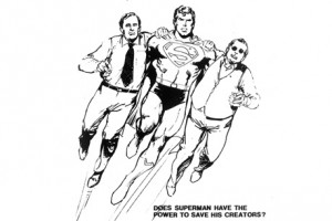 Superman with His Creators, Jerry Siegel and Joe Shuster, by San Diego Comic Fest 2014 Guest of Honor Neal Adams